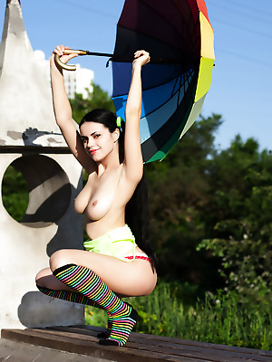 Showy Beauty  Mirella  Boobs, Breasts, Tits, Beautiful, Erotic, Softcore, Topless, Natural, Solo